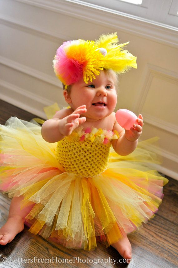 815595f864d3f Lil Chick Easter Tutu & Headband Set by LilTutuDivas......what a cutie pie