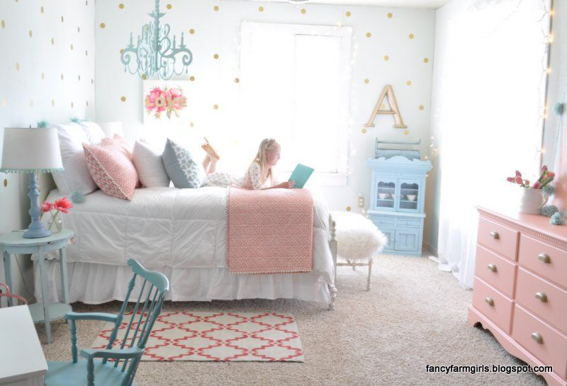 Second Hand Farmhouse Bedroom Makeover Big Girl Bedrooms
