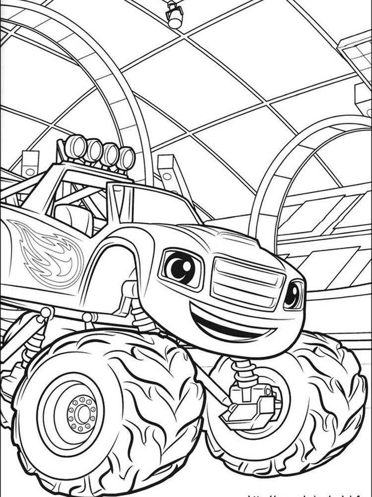 Blaze And The Monster Machine Colouring Pages Blaze And The Monster Machine Is An Animated Coloring Pages To Print Cartoon Coloring Pages Cute Coloring Pages