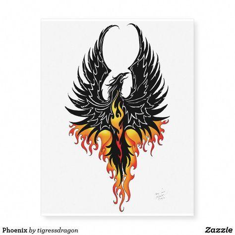 Phoenix Temporary Tattoos | Zazzle.com