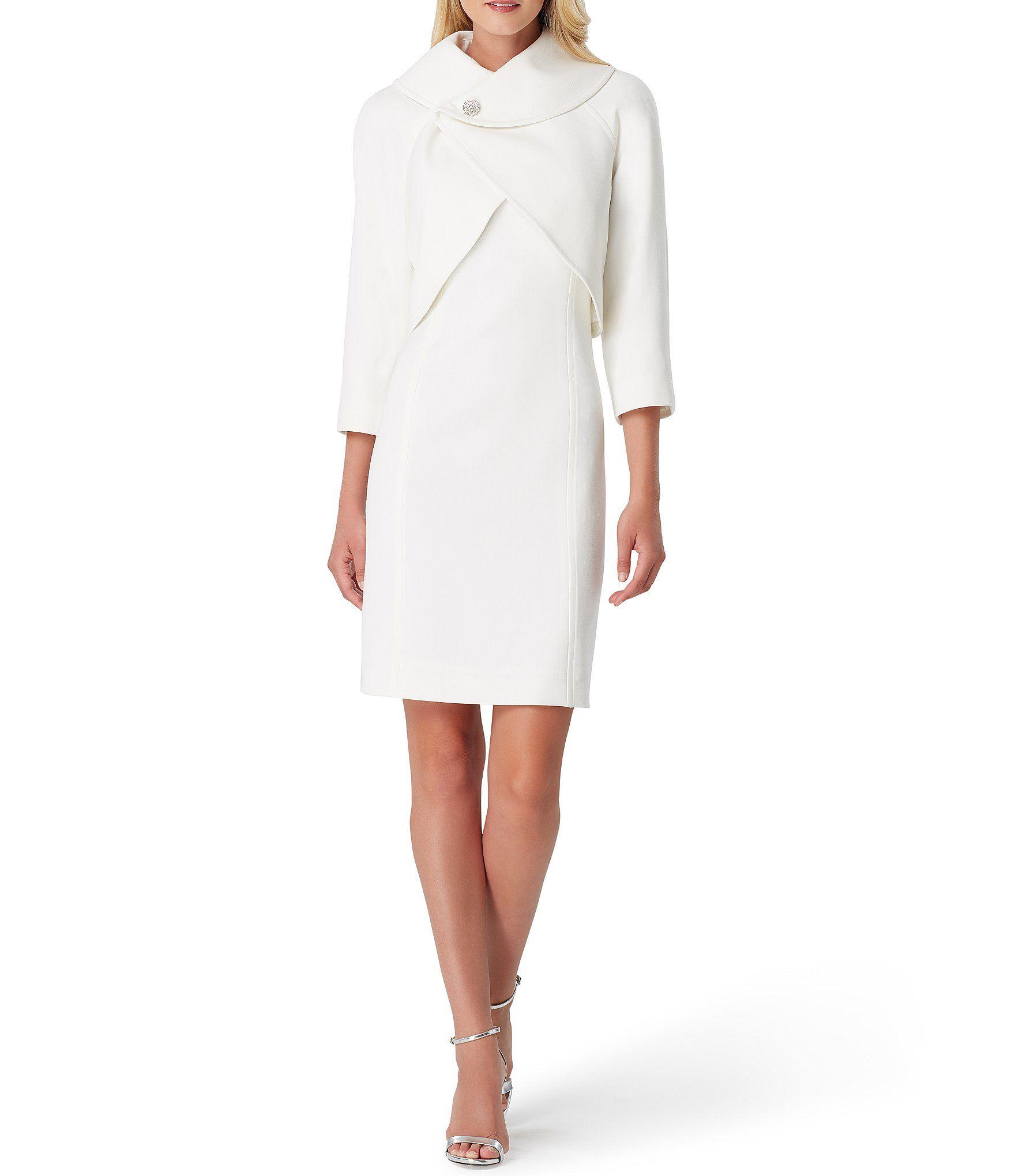 Shop For Tahari Asl Scuba Crepe Envelope Collar Embellished Button Jacket 2 Piece Dress Suit At Dillards Com Womens Dress Suits Suits For Women Dressy Fashion [ 2040 x 1760 Pixel ]