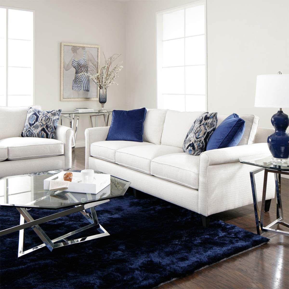 Best Whitney Sofa Loveseat White Living Room Set 400 x 300