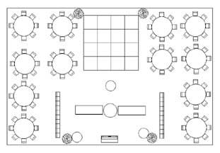 Wedding Floor Plan Design With