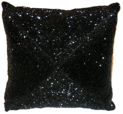 Amazon Max Studio Home Decorative Pillow Black Beading 40 X 40 Amazing Max Studio Home Decorative Pillow