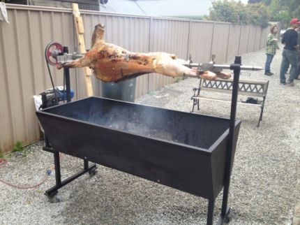 Charcoal Spit Rotisserie For Hire Heavy Duty Motor 14 Metres Long Comes With Attachments Small