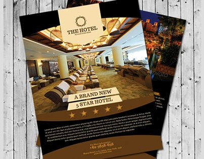 Check Out New Work On My Behance Portfolio Hotel Flyer Template