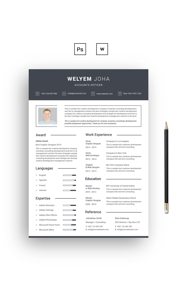 Welyem Joha Resume Template 68278 Resume template