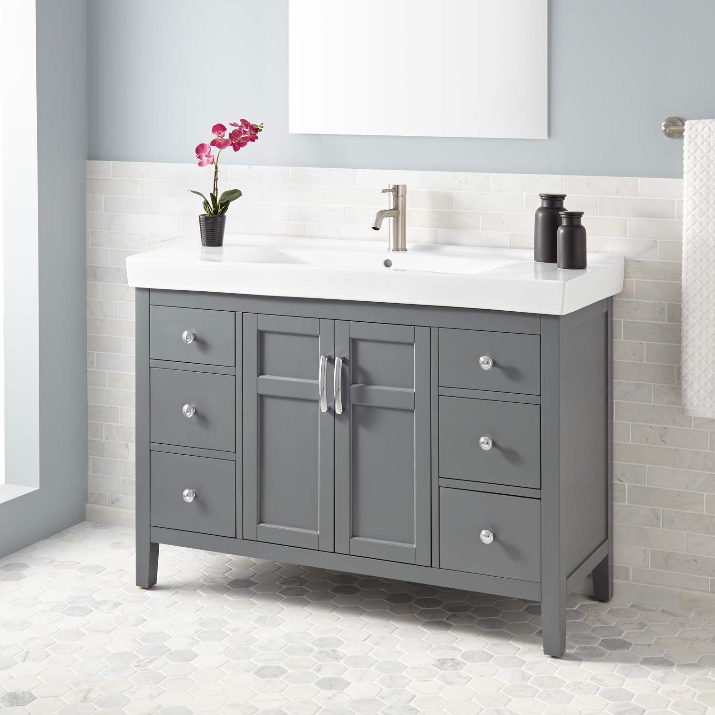 """48"""" Tamsin Vanity Gray Bathroom furniture vanity"""