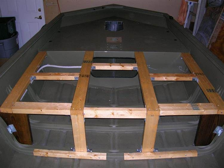 Jon boat deck ideas bing images life pinterest for Bass boat plans