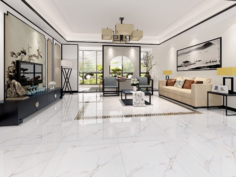 Shining Tiles Designs For Your Floors Living Room Decor