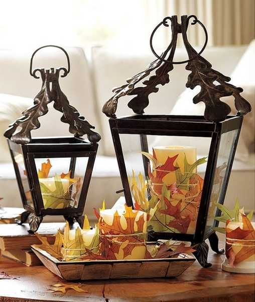 22 Creative Ways to Add Colorful Autumn Leaves to Fall Home Decorating