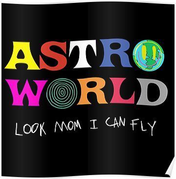 Astroworld Look Mum I Can Fly Poster By Modestquotes In 2021 Mini Canvas Art Hippie Painting Cute Canvas Paintings