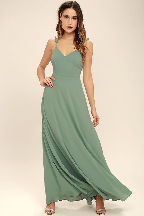 56b030ce6c Your allure will be at an all-time high when you slip into the Meteoric  Rise Sage Green Maxi Dress! Breezy woven fabric sweeps over a princess  seamed