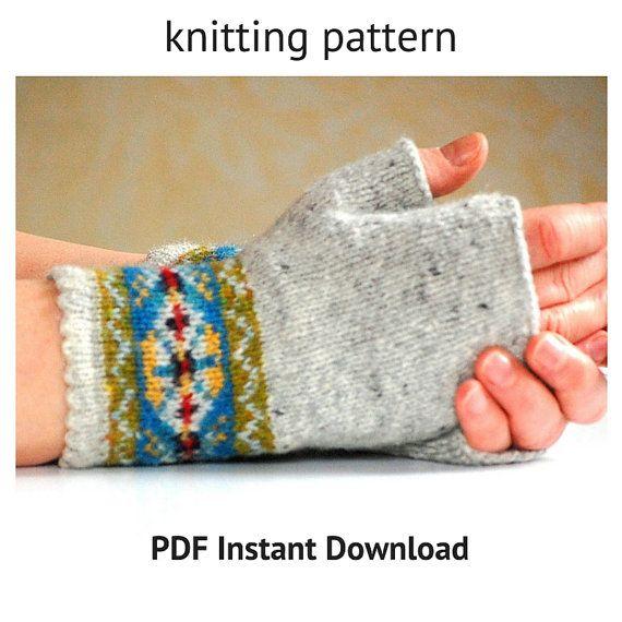 Knitting Pattern Fair Isle Fingerless Gloves von helengraydesigns ...