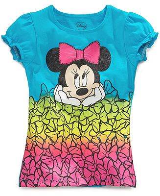 e2394a6bf3ccf Disney Kids T-Shirts, Little Girls Minnie Mouse Graphic Tees - Kids Girls  2-6X - Macy's
