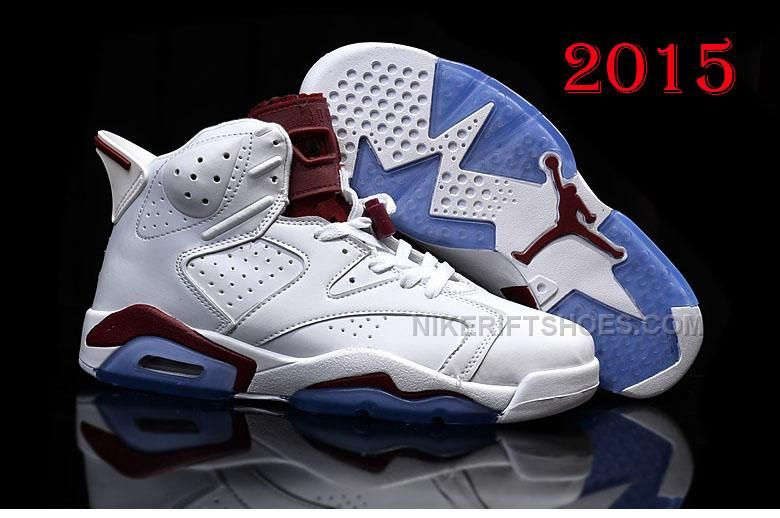 f32b9885b43 ... clearance nikeriftshoes 2015 nike air jordan 6 white burgundy free  shipping.html 2015 nike air