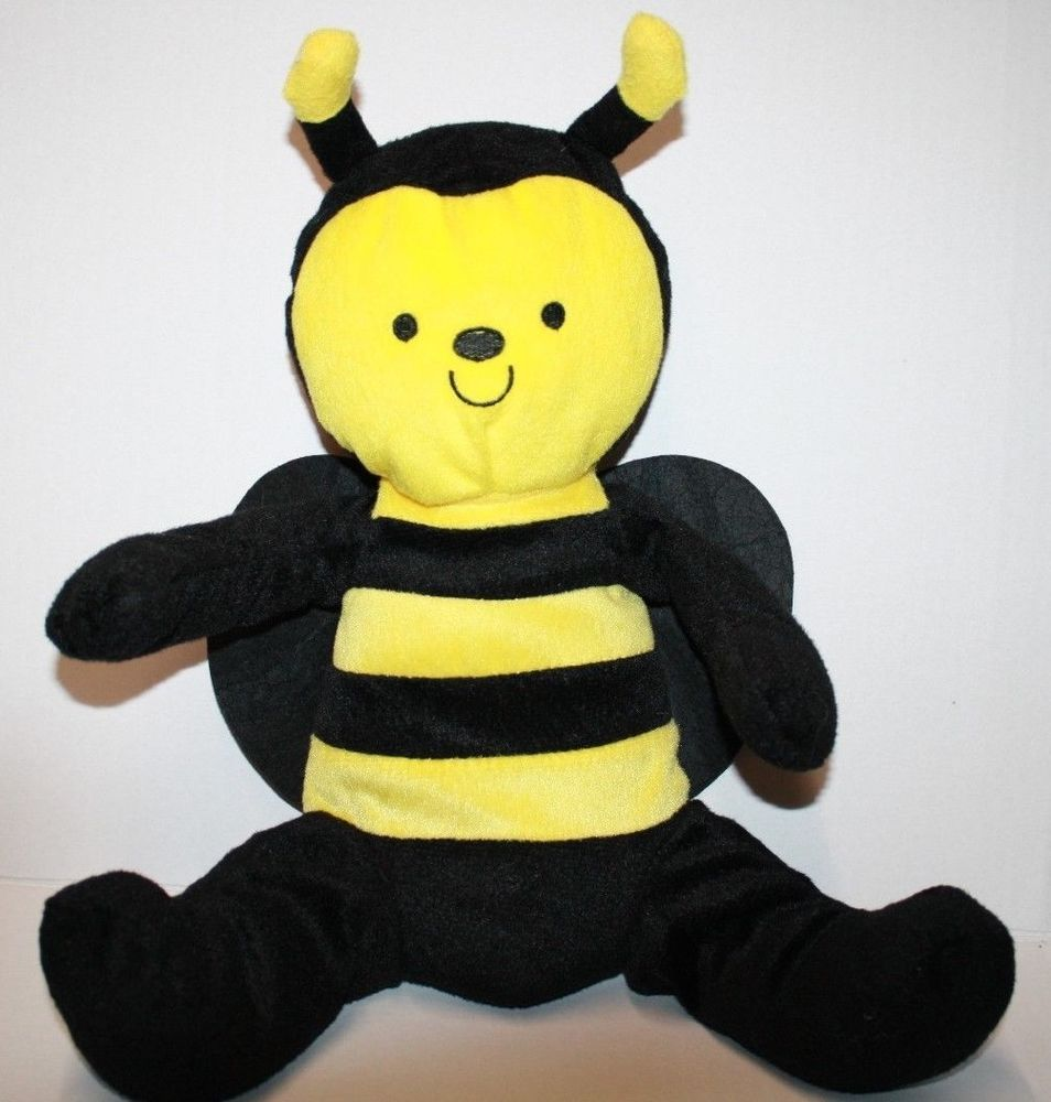 Bumble Bee 14 Stuffed Yellow Jacket Black Plush Soft Toy Felt Wing