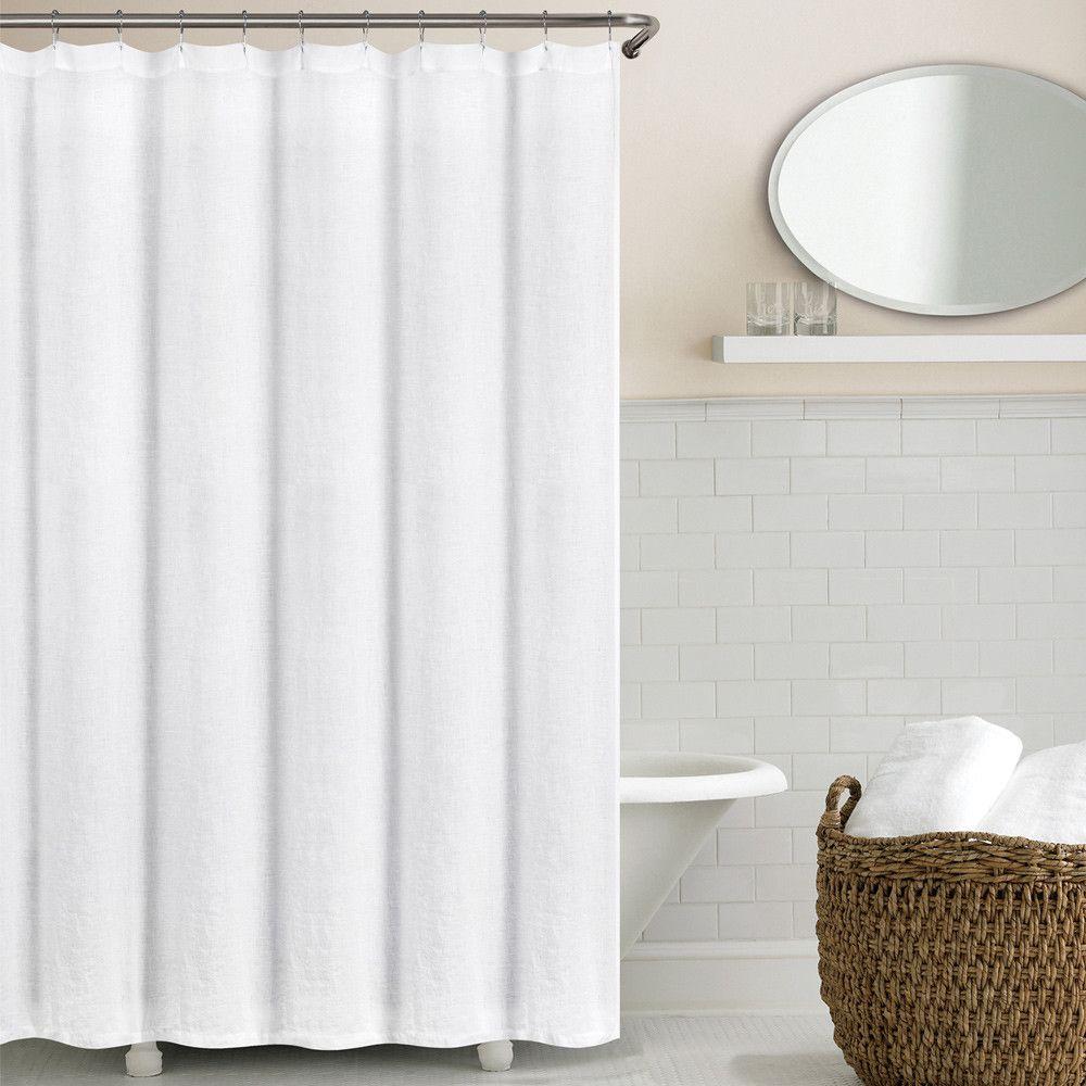 Bernadette Linen Solid Color Single Shower Curtain Curtain