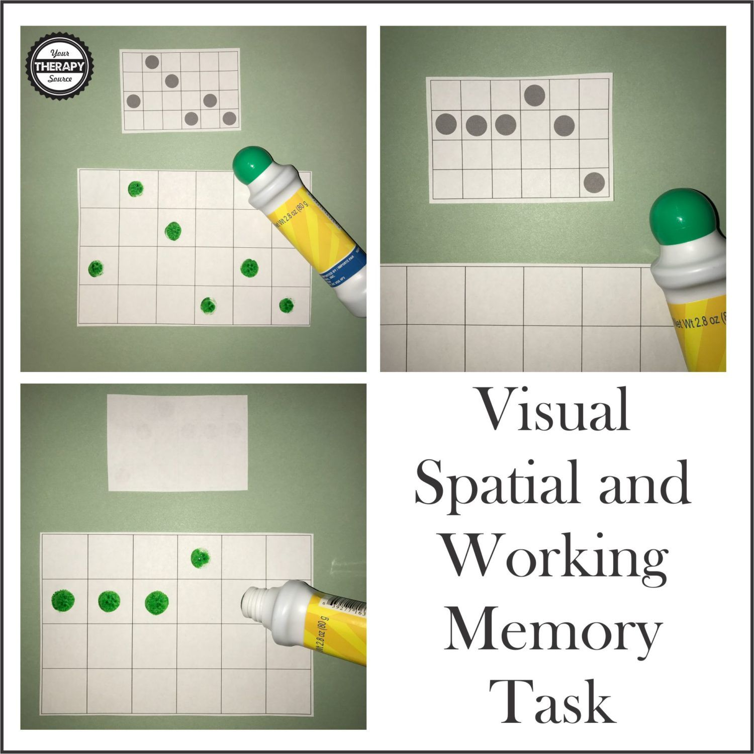 Visual Spatial And Working Memory Task