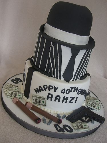 Gangster Cake Mobster Birthday Cake Themed Cakes