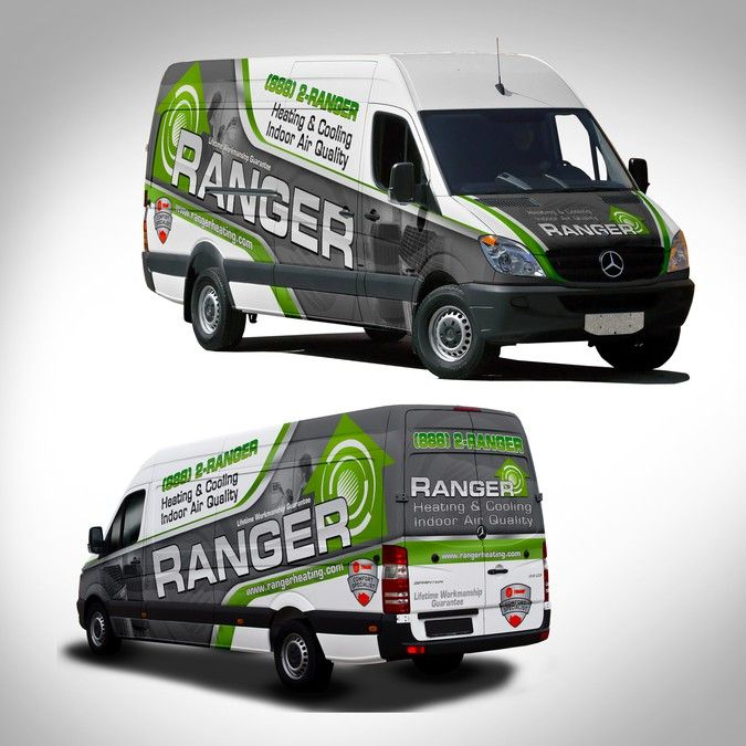 Elegant Van Wrap For Heating And Cooling Company By J Chaushev
