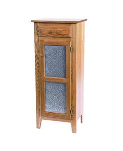Amish Shaker Jelly Cabinet With Copper Tin Or Wood Doors Amish Furniture Punched Tin Jelly Cabinet
