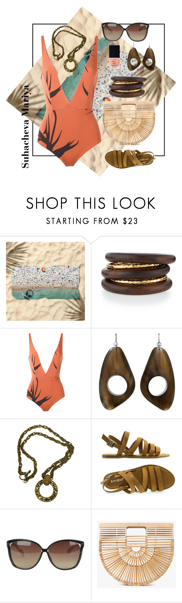 """Untitled #130"" by maria-sukhacheva ❤ liked on Polyvore featuring NEST Jewelry, Haight, Chanel, Linda Farrow, Cult Gaia and NARS Cosmetics"