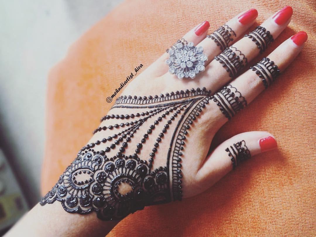 Henna Mehndi Love : Latest jewellery style henna tutorial➡youtubemehndiartist hira