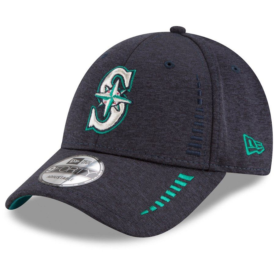 huge discount f8d05 9261f Men s Seattle Mariners New Era Navy Speed Shadow Tech 9FORTY Adjustable Hat