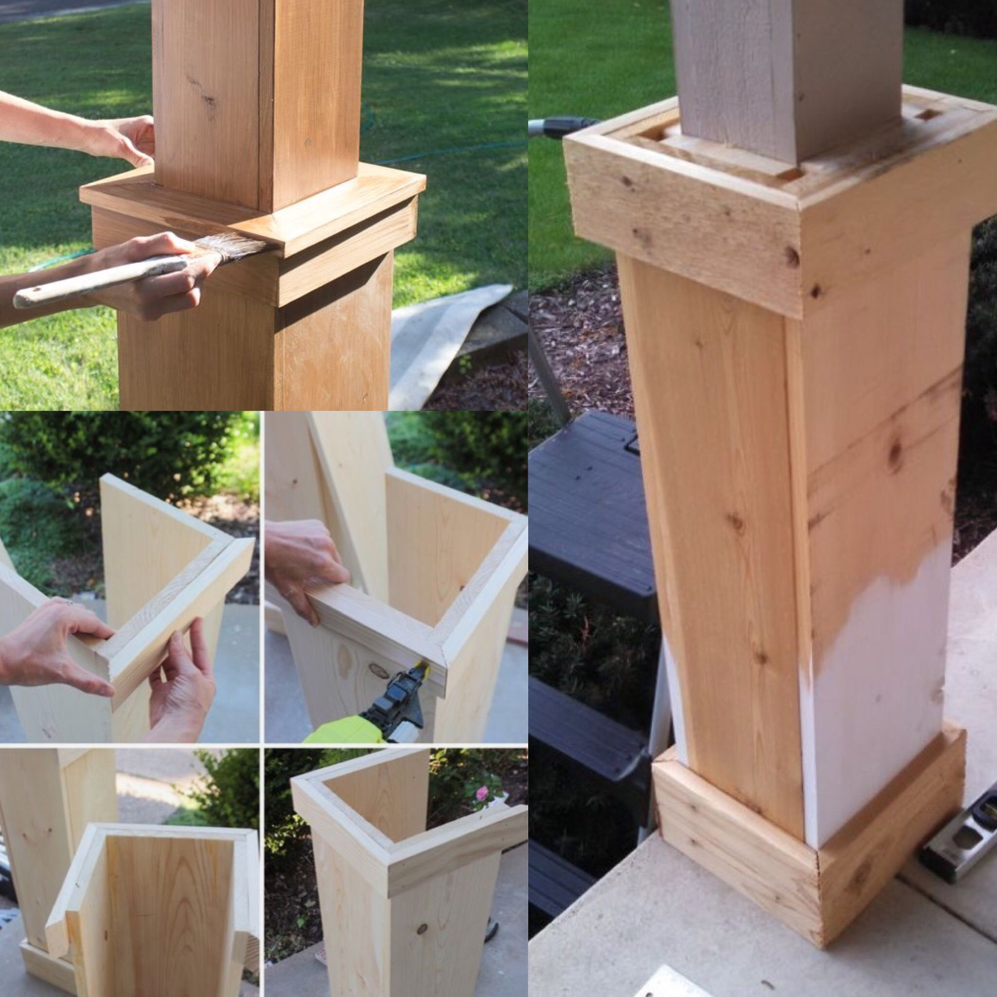 Diy on how to wrap porch columns porch columns front