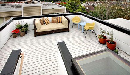 Witte vlonders op dakterras dakterras pinterest rooftop roof