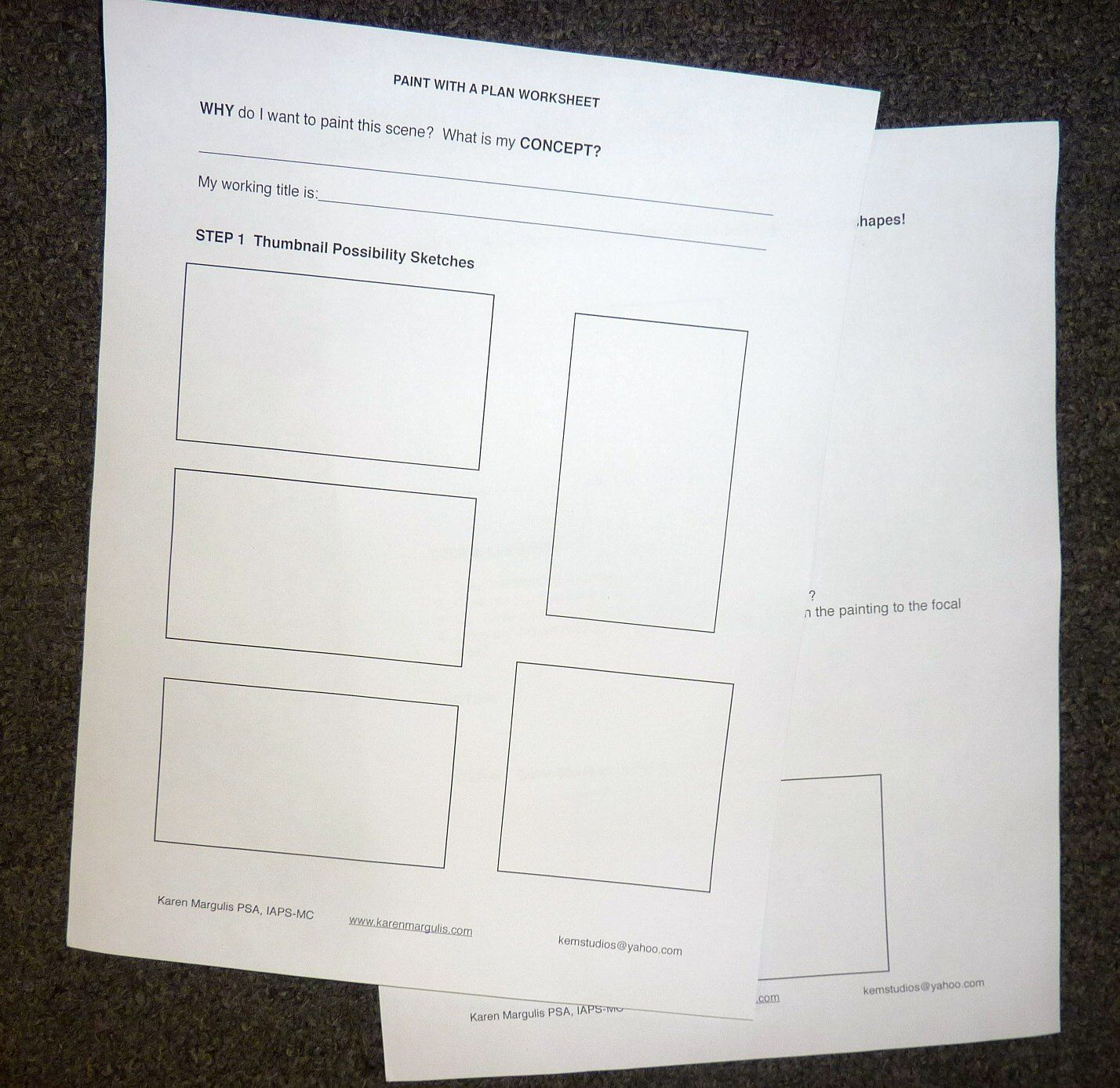 Paint With A Plan Painting Planning Worksheet Plan For