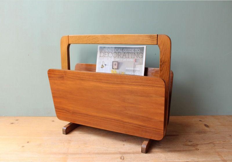 Zeitungsständer * Teak * 60er * dänisch von mill vintage auf DaWanda