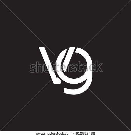Initial Letters Vg Round Overlapping Chain Shape Lowercase Logo Modern Design White Black Background Simple Logo Design Typography Logo Letter Logo Design