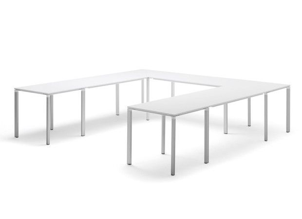 Camfer Straight Edged U Shape Modular Layout Modular Tables - Modular conference table system
