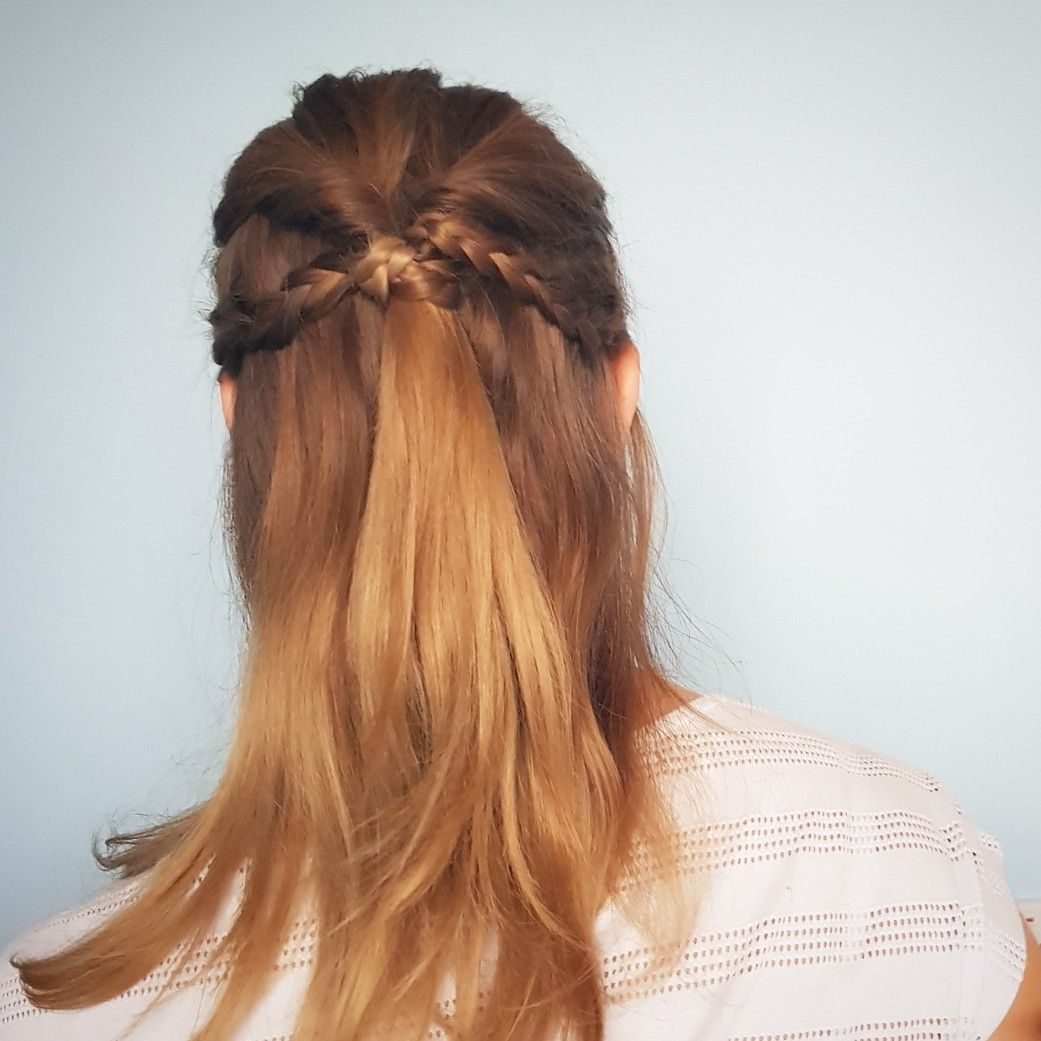 Topsy turvy half updo with braids hair pinterest half updo and