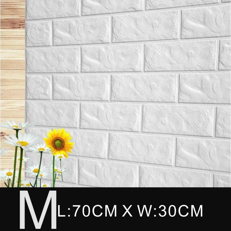 30x70cm PE Foam Wall Stickers Patterns 3D Wallpaper DIY Wall Decor ...