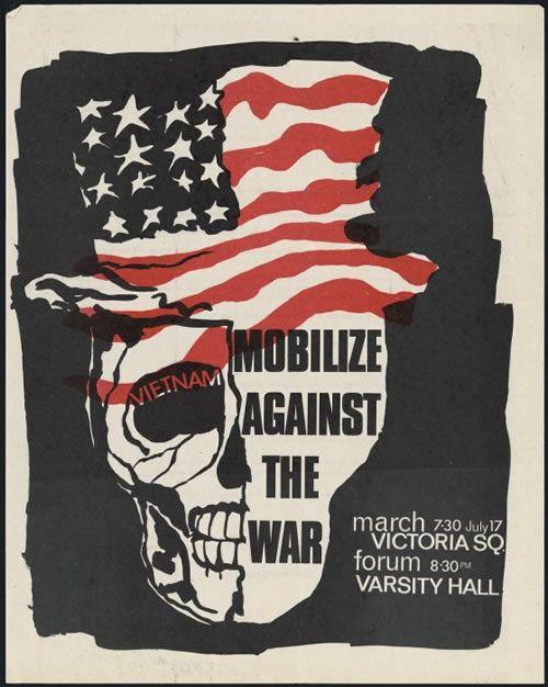 Anti-Vietnam war poster, 1966 | BookWeb | Okay for Now