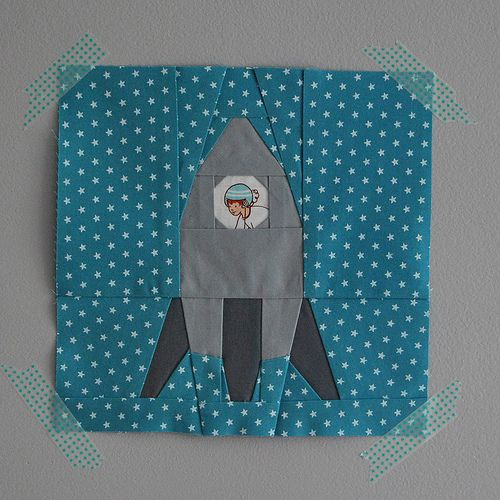 paper pieced rocket | Quilting | Pinterest