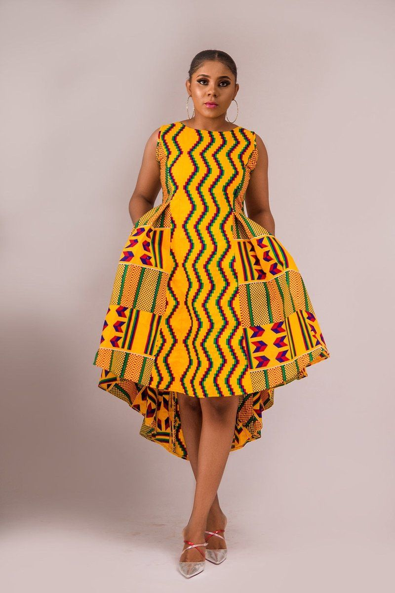 NEW IN Rutendo African print kente dress #africanprintdresses