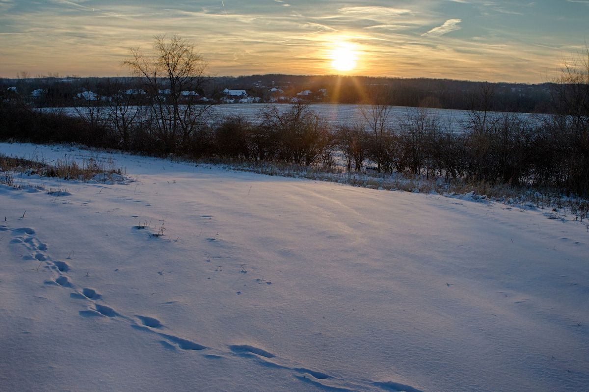 Winter sunset from Raptor Ridge