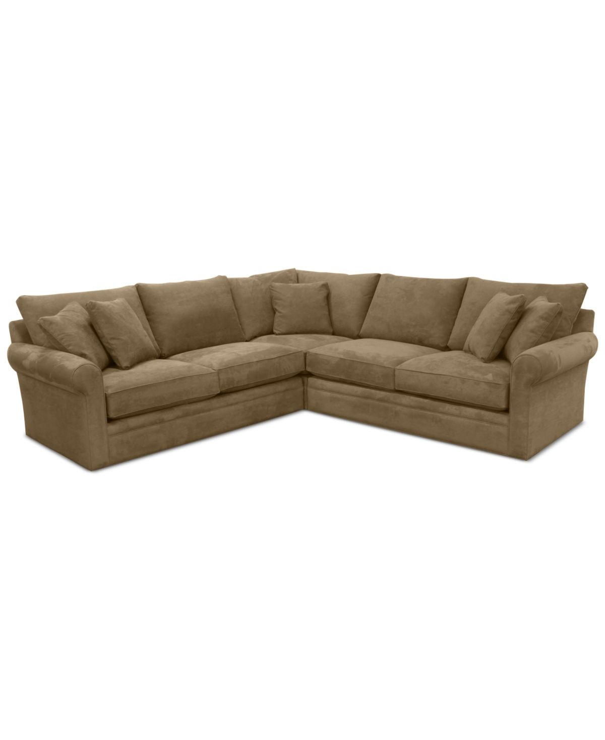 Doss Ii 3 Pc Fabric Sectional With Apartment Sofa Doss Otter