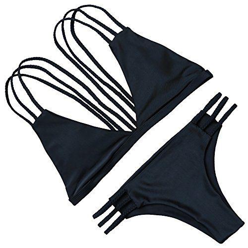 d53defb473b OMKAGI #Women Halter Fashion Sexy Swimwear 2 Pieces #Swimsuit #Bikini Set  With Small