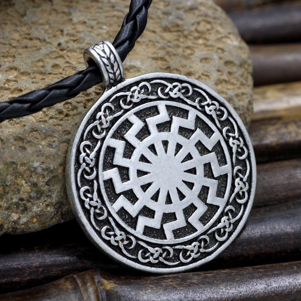 Black Sun Viking Pendant Marquesan tattoos, Viking