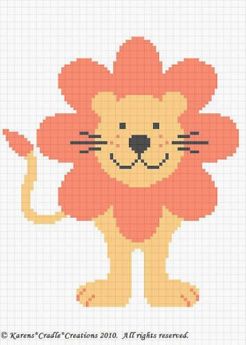 Crochet Patterns- CUTE LION Baby Afghan Pattern ***EASY | Perlentiere