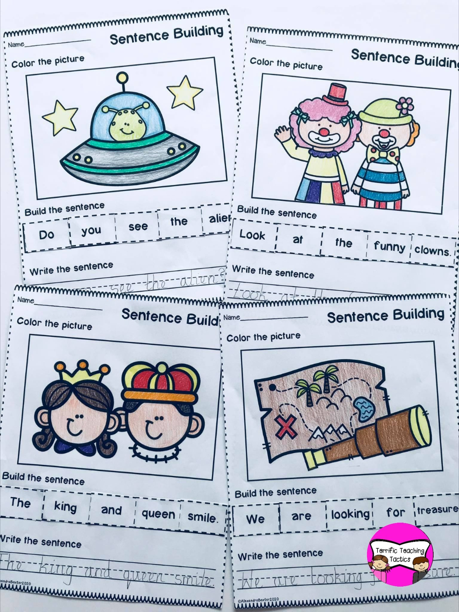 Sentence Building Themed Bundle In With Images