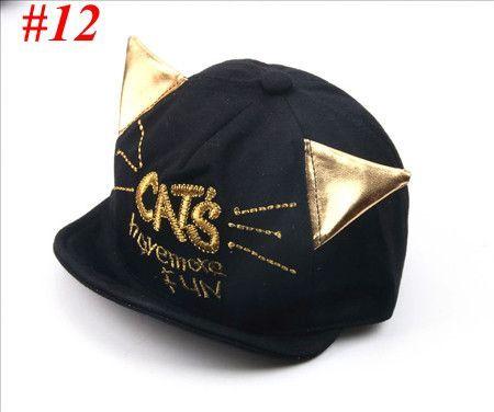 2016 New Baby Hat with Ears Beard Stars Animal Cat Cartoon Kids Baseball Hat Summer Baby Boy Sun Hats Cotton Caps Girls Visors