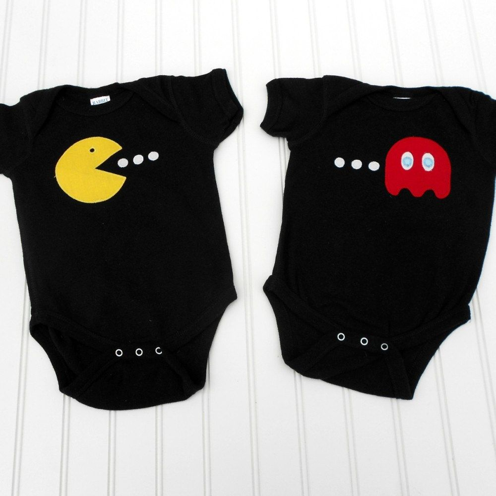 3493f7b2e Great Halloween costume READY TO SHIP Onesie - PacMan and ghost set ...