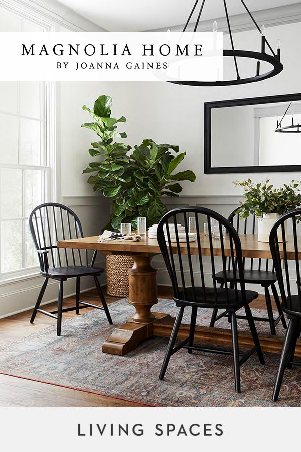 Magnolia Home By Joanna Gaines Dining Rooms Refined Rustic Designs To Bring Together T Joanna Gaines Dining Room Farmhouse Dining Room Dining Room Inspiration