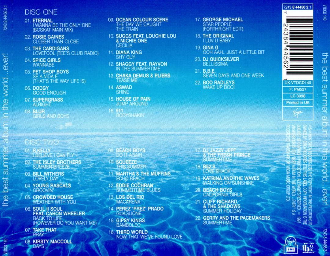 Best Summer Album In The World Ever 1997 Various Artists Songs Reviews Credits Allmusic Album Songs Various Artists